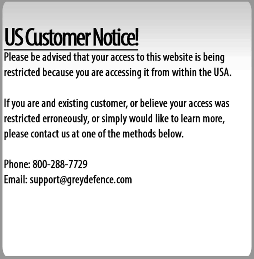 US Customer Notice